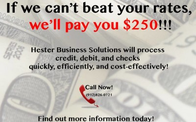 Get $250.00 or Better Merchant Service Rates!